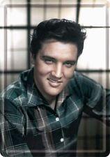 Elvis metal postcard colour photo