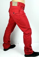True Religion $209 Men's Ricky True Red Straight Brand Jeans - M58859NNE7
