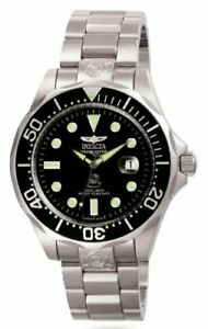 Invicta Men's Pro Diver Automatic 300m Black Dial Stainless Steel Watch 3044