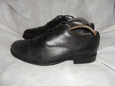 Clarks Hombre Negro Cuero Con Cordones Puntera Zapatos Size Uk 7.5 EU 41.5 en muy buena condición