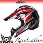 STEALTH HD203 EDGE ROSSO MX motocross da strada LEGALE Off Road Casco da moto