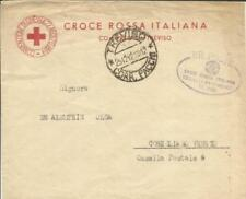 Italy RED CROSS-OFFICIAL-TREVISO 25/12/42 CONEGLIANO-backstamp, Some Toning