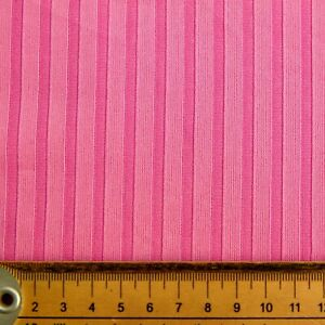 PINK STRIPE LARGE FABRIC REMNANT POLYESTER 50cms X 134CMS