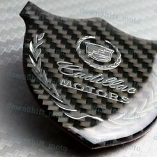 For CADILLAC Carbon Fiber 3D Car Front Body Trunk Rear Side Badge Emblem Sticker