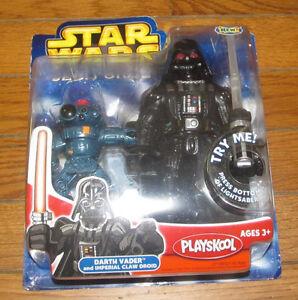 Star Wars Hasbro Playskool Toy Figures Plastic Darth Vader & Imperial Claw Droid