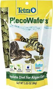 Tetra Veggie Pleco Wafers 3.03 Oz Fish Food For Algae Eaters Complete Diet