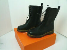 Charming Lady Ankle  high boots 8 .5 Black Man Made ?