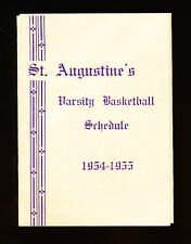 1954-55 St Augustine's High School Varisty Basketball Schedule - Brooklyn, NY