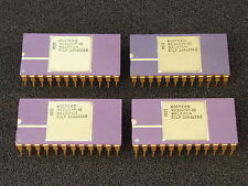 Qty 4: Vintage Mostek Memory IC's Gold Ceramic Dip Package NOS Collectable Xlnt!