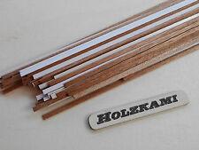 50 Holzleisten Mahagoni  300mm x 1mm bis 5mm x 0,6mm  L/B/H  Selbstklebend