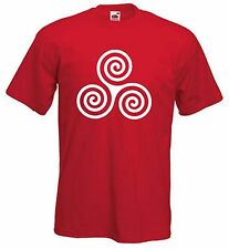 CELTIC SPIRAL T-SHIRT - Pagan Druid Wicca Goth Gothic - Choice Of Colours