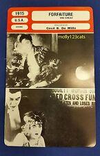 USA Silent Drama The Cheat Cecil B De Mille Fannie Ward French Film Trade Card