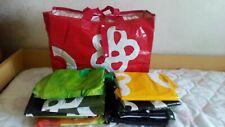 Lotto stock 13 borse plastica spesa mare spiaggia capienti shoppers bag forti
