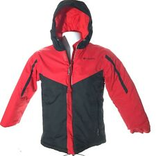 COLUMBIA Youth Boys Hooded Lined Puffer/Ski Coat Red/Black Size M