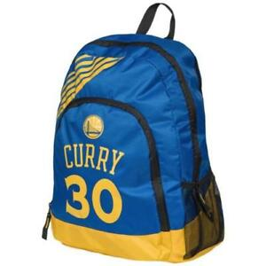 Stephen Steph Curry #30 Warriors Jersey Backpack gym Book Bag Border Stripe Blue