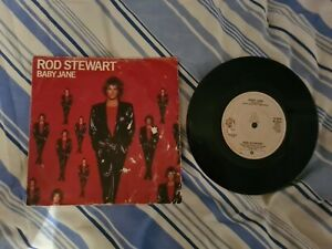 """ROD STEWART BABY JANE 2 Track 7"""" Single Picture Sleeve WEA RECORDS"""