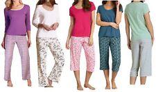 Ladies Women M&S Pure 100% Cotton Pyjama Set Long Short 3/4 designs PJ