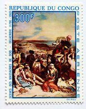 Congo tableau Massacres de Scio par Delacroix  1970   NEUF ** PA 93 88M590
