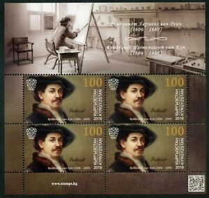 Kyrgyzstan-2019 Great artists. Rembrandt Harmenszoon Van Rijn