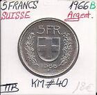 SUISSE - 5 FRANCS - 1966 B - Pièce de Monnaie en Argent // Qualité: TTB