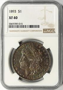 1893 $1 Morgan Dollar NGC XF40