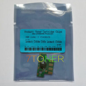 Toner Chip for Lexmark C540 C543 C544 C546 X543 X544 X546 X548 C540H1KG C540A1KG