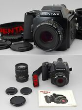 N.Mint Pentax 645 Body Film Back 120, SMC A 75mm 150mm Lens, Etc. from Japan#o39