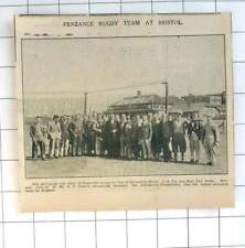 1935 Team Photo Of Penzance Rugby Team At Bristol, Visiting Js Fry Works