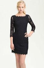DVF Zarita  Black Lace Dress US sz 8  UK sz 12