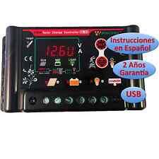 Regulador de Carga Solar 30A 12v/24v Pantalla LCD Programable Regulator Español
