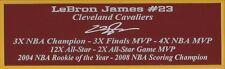 LeBron James Autograph Nameplate Cleveland Cavaliers Auto Photo Ball Jersey