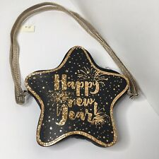 """Girls Cat And Jack Cross Body Bag Star Shaped """"Happy New Year"""" Purse New"""