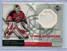 2003 UPPER DECK MASK COLLECTION SUPER STOPPERS MARTIN BRODEUR GAME WORN JERSEY