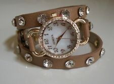 Designer Wrap Around Bling Sparkly Rhinestones Crystals fashion women's watch