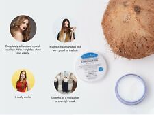 Coconut Oil - 100% Pure and Organic -Repair Dry Damaged Hair- Reduces Hair Loss