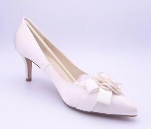 Paradox London Pink Adaline Women's Ivory Satin Wedding Shoes Size UK 8 Eur 41