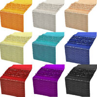 """12""""x72"""" / 12""""x108"""" Glitz Sequin Table Runners Wedding Party Banquet Decorations"""