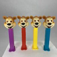PEZ FAO Schwarz Bears Complete Set of Stem Colors Dispensers Lot of 4 - HTF