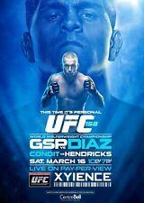 UFC 158 Event Poster - GSP vs Nick Diaz - 11x17 13x19 - MMA