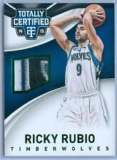 RICKY RUBIO 2014-15 TOTALLY CERTIFIED GREEN GAME USED PATCH SP/5
