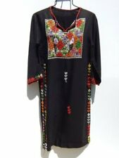 VINTAGE ETHNIC DRESS ~ Colorful Hand Embroidered Hippie Bohemian Maxi
