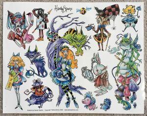 Tattoo Studio Shop Flash Single By Harley Sparks Alice in Wonderland 11X14 Print