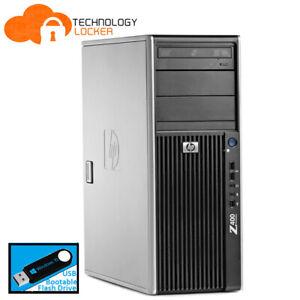 HP Z400 Workstation Tower Xeon W3550 @3.06GHz 8GB 500GB Quadro 2000 Win 10 Pro