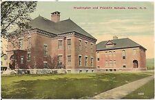 Washington and Franklin Schools in Keene NH Postcard 1913