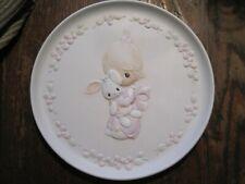 Vtg Precious Moments Porcelain 1982 Jesus Loves Me-Bunny&Girl By Beil&Butcher
