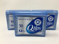 5 Travel Packs Q-Tips Cotton Swabs 30 Per Pack Plastic Container