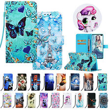 For Samsung S20+/Ultra S9 S10 Note 10 Pattern Wallet Flip Stand Phone Case Cover
