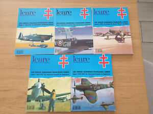 AVIATION WW2 ICARE FORCES AERIENNES FRANCAISES LIBRES 5TOMES 128,133,136,138,143