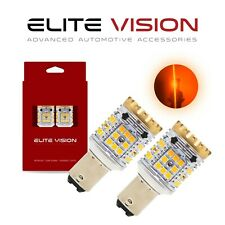 Elite Vision 1157 Led Turn Signal Light Bulbs Kit for Ford Amber 2600LM 3000K