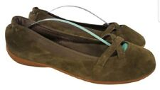 Eur 39.5/ US 8.5 Patagonia woman shoes flats ballet green suede loafers slip on
